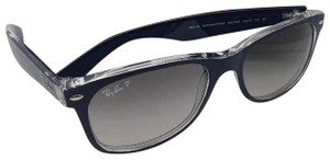Ray-Ban Polarized RAY-BAN Sunglasses NEW WAYFARER RB 2132 6053/M3 Blue-Clear