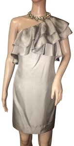 Banana Republic One Shoulder Silk Three Layers Ruffles Classy Dress