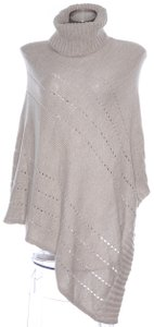 Charter Club Charter Club Pointelle Taupe Poncho Womens