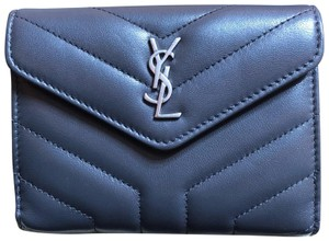 Saint Laurent loulou compact wallet Y leather ysl