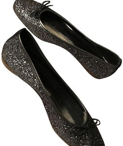 Bellofatto Formal Sequin Ballet Made In Italy Silver Flats