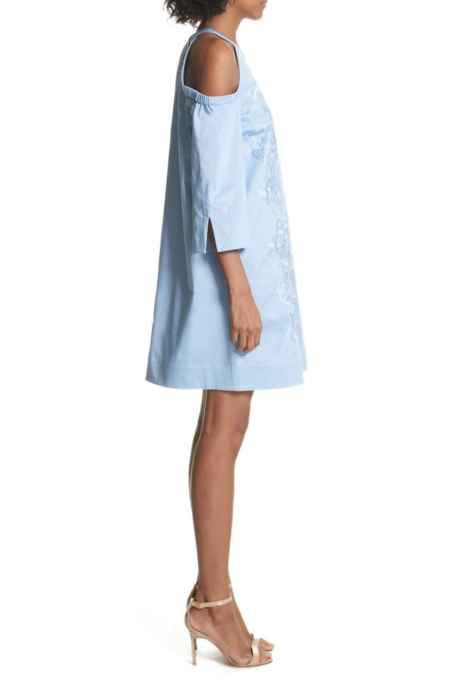 559bcfdb247e Ted Baker Blue Jettas Cold Shoulder Embroidered Short Casual Dress Size 6 (S)  - Tradesy