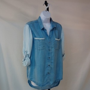 Andrea Jovine Button Down Shirt Light blue navy blue
