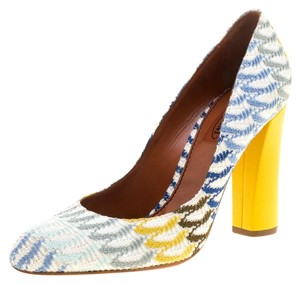 Missoni Leather Chunky Multicolor Pumps