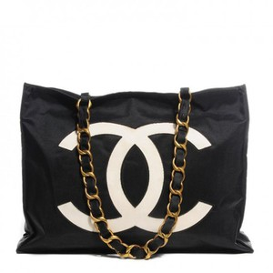 Chanel Vintage Canvas Tote in Black