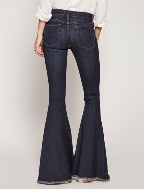 Free People Super Stretchy Flare Leg Jeans-Dark Rinse Image 2