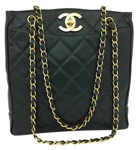 Chanel Vintage Tote Caviar Shoulder Bag