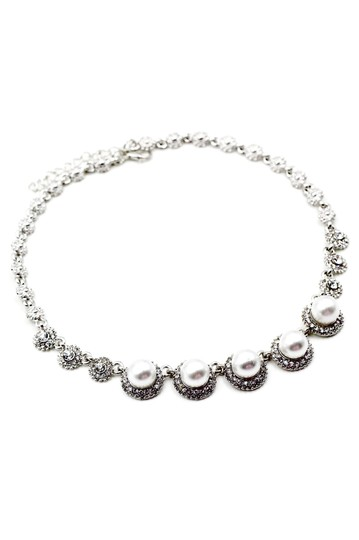 Ocean Fashion Silver pearls crystal necklace Image 0