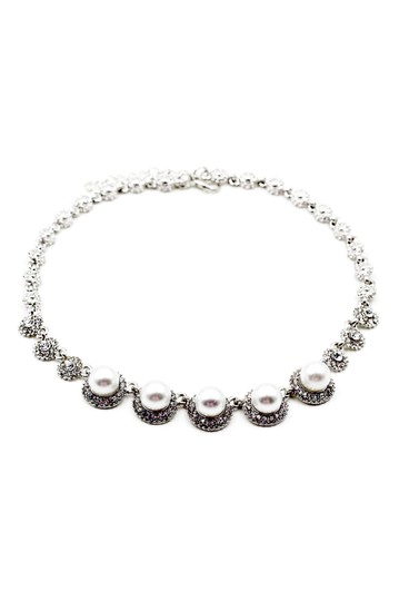 Ocean Fashion Silver pearls crystal necklace Image 1