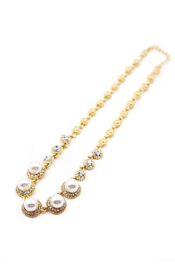 Ocean Fashion Golden pearls crystal necklace Image 1