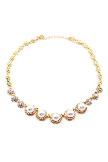 Ocean Fashion Golden pearls crystal necklace Image 2