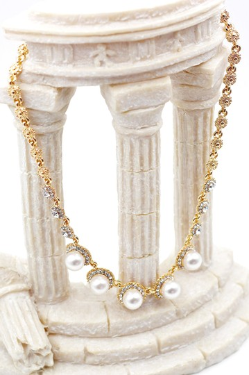 Ocean Fashion Golden pearls crystal necklace Image 3