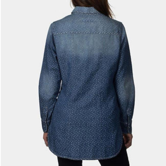 Preload https://img-static.tradesy.com/item/24405968/abs-by-allen-schwartz-navy-blue-light-blue-with-stars-1035s-button-down-top-size-petite-2-xs-0-0-650-650.jpg