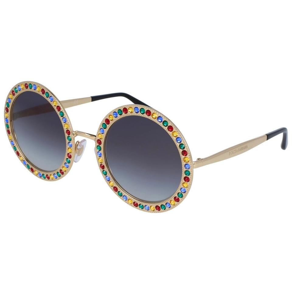 b269cda45d5 Dolce Gabbana Gold Multi-color Round Dg2170b Embellished with ...