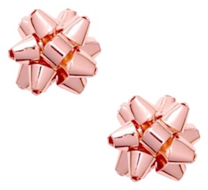 Kate Spade Kate Spade Rose Gold Bourgeois Bow Earrings