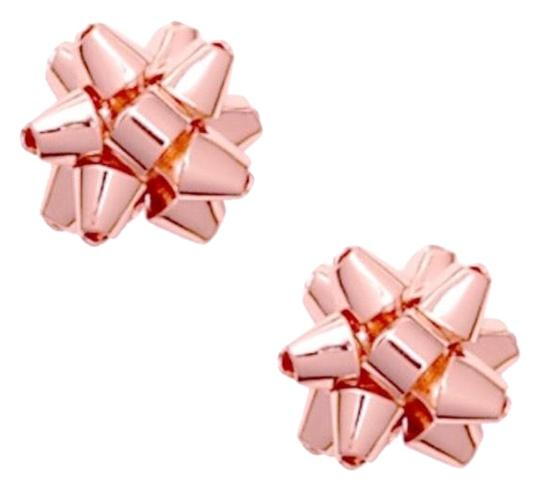Kate Spade Kate Spade Rose Gold Bourgeois Bow Earrings Image 0