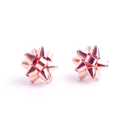 Kate Spade Kate Spade Rose Gold Bourgeois Bow Earrings Image 1
