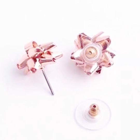 Kate Spade Kate Spade Rose Gold Bourgeois Bow Earrings Image 3