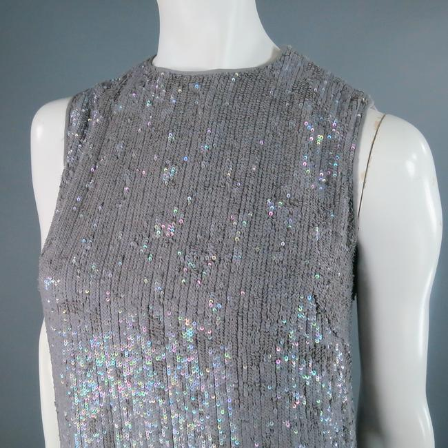 Norman Ambrose Sequin Iridescent Mink Fur Party Dress Image 3