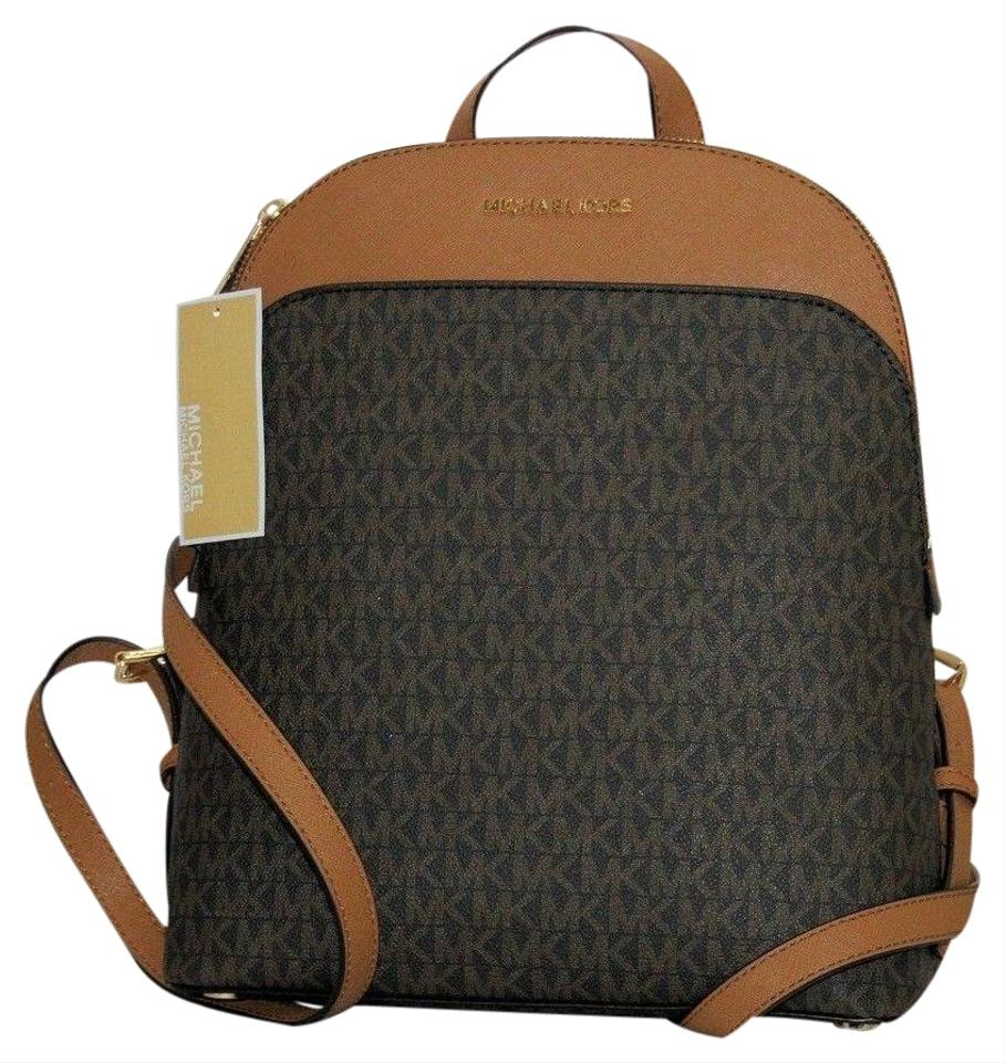 5833f5eb5b33 Michael Kors Emmy Brown Leather Backpack - Tradesy