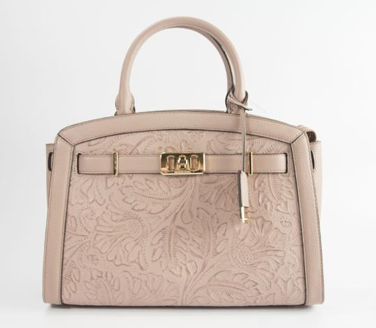 Michael Kors Leather Studded Saffiano Satchel in Pink Image 10