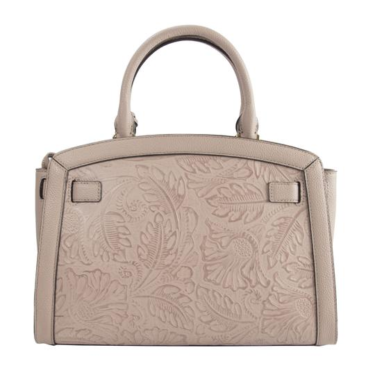 Michael Kors Leather Studded Saffiano Satchel in Pink Image 1