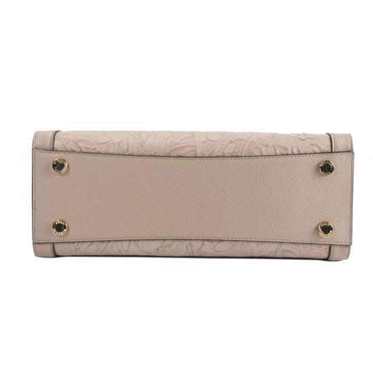 Michael Kors Leather Studded Saffiano Satchel in Pink Image 2