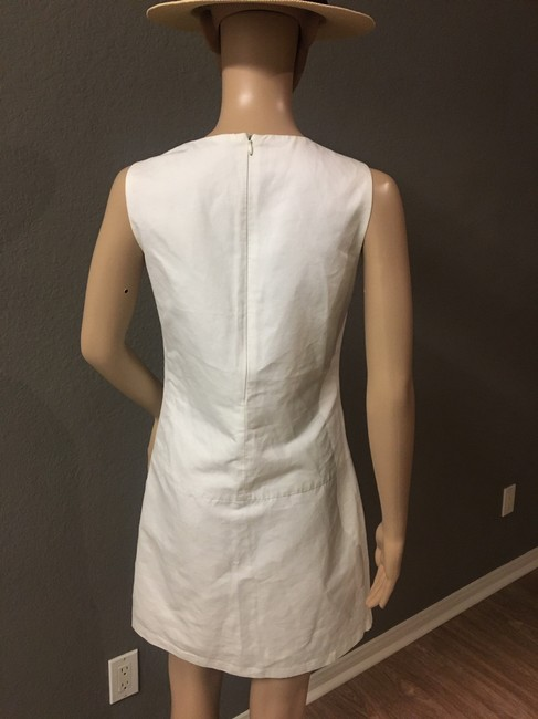 Zara short dress White Crew Neck Pockets Lined. on Tradesy Image 4