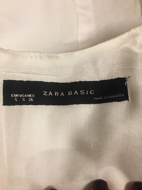 Zara short dress White Crew Neck Pockets Lined. on Tradesy Image 8