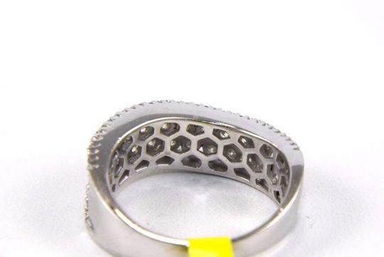 Other Curve Diamond 2 Row Cluster Ring Band 14K White Gold 1.58Ct Image 2