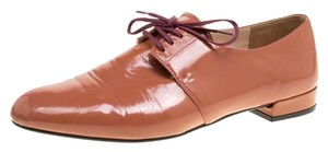 Prada Patent Leather Lace Pink Flats
