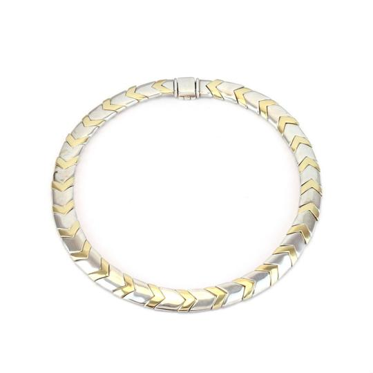 Tiffany & Co. Chevron 18k Yellow Gold Sterling 11mm Wide Collar Necklace Image 1