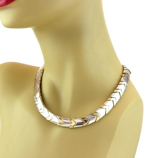 Tiffany & Co. Chevron 18k Yellow Gold Sterling 11mm Wide Collar Necklace Image 2