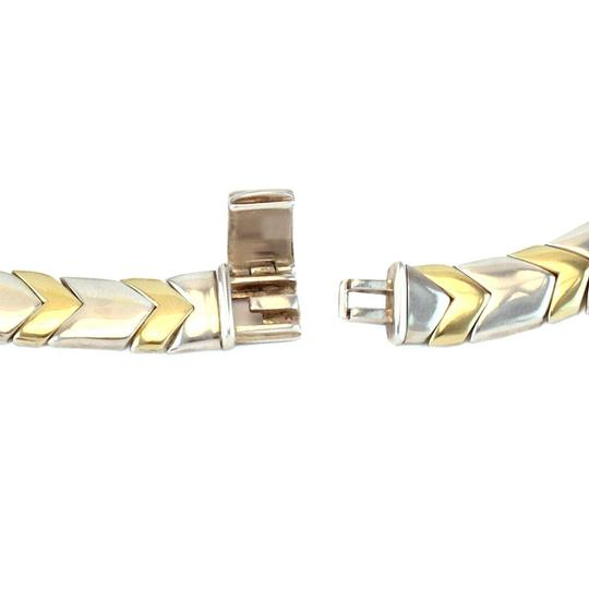 Tiffany & Co. Chevron 18k Yellow Gold Sterling 11mm Wide Collar Necklace Image 4
