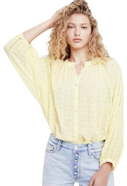 Item - New Yellow / Gold Down From The Clouds Peasant Blouse Size 8 (M)