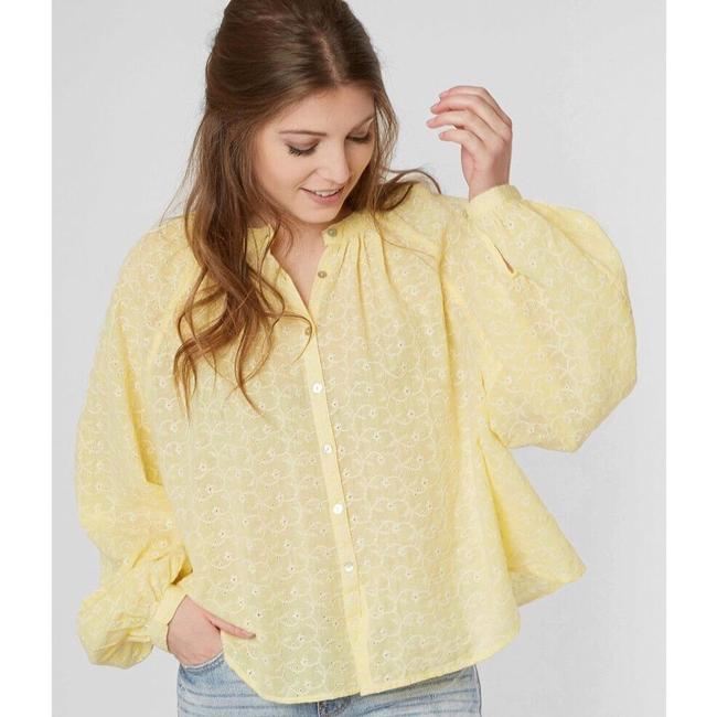 Free People Top New Yellow / Gold Image 2