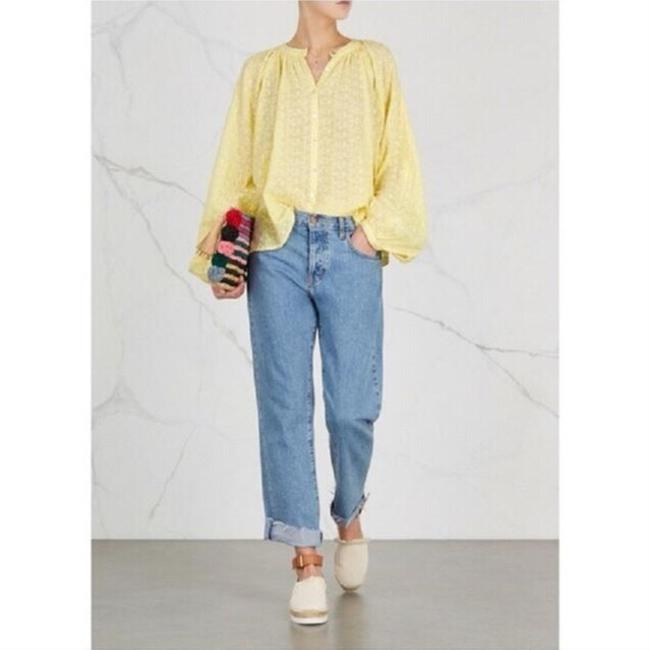 Free People Top New Yellow / Gold Image 5