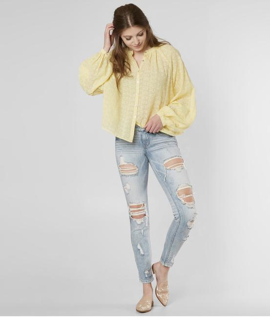 Free People Top New Yellow / Gold Image 6