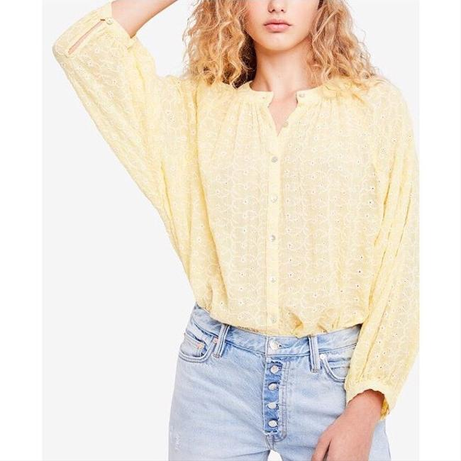 Free People Top New Yellow / Gold Image 8
