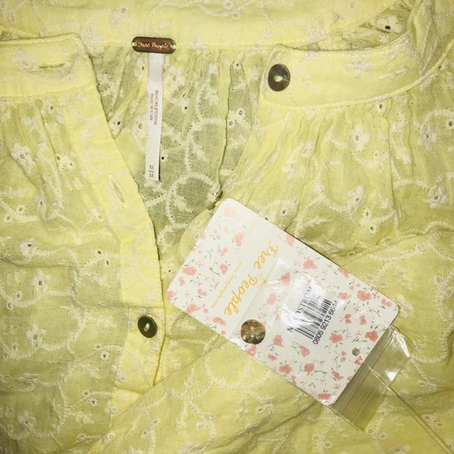 Free People Top New Yellow / Gold Image 9