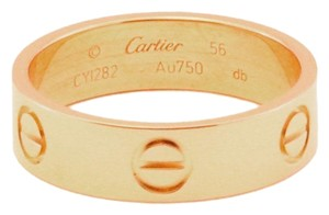 Cartier Love 18k Rose Gold 5.5mm Band Ring Size 56-US 7.75 w/Cert