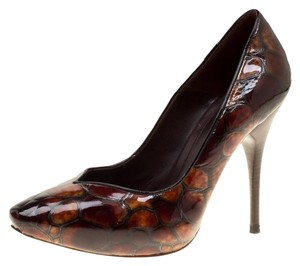 Alexander McQueen Patent Leather Leather Brown Pumps