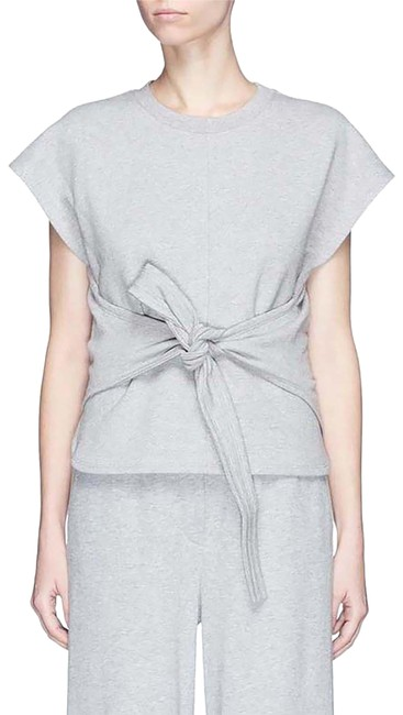 Preload https://img-static.tradesy.com/item/24406444/t-by-alexander-wang-heather-grey-tie-front-sweatshirthoodie-size-os-one-size-0-1-650-650.jpg