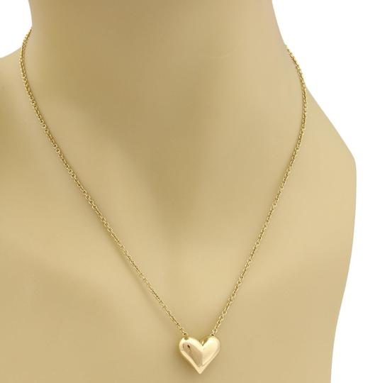 Tiffany & Co. Classic 18k Yellow Gold Puffed Heart Pendant & Chain Image 1