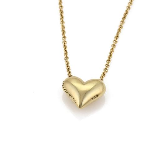 Tiffany & Co. Classic 18k Yellow Gold Puffed Heart Pendant & Chain Image 2