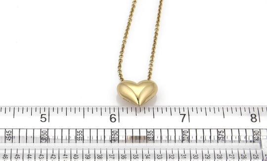 Tiffany & Co. Classic 18k Yellow Gold Puffed Heart Pendant & Chain Image 3