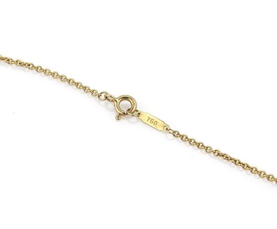 Tiffany & Co. Classic 18k Yellow Gold Puffed Heart Pendant & Chain Image 5
