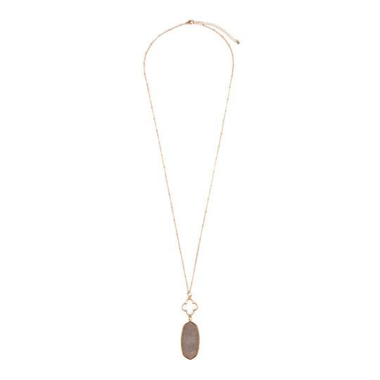 Preload https://img-static.tradesy.com/item/24406495/gray-faceted-oval-stone-pendant-necklace-0-0-540-540.jpg