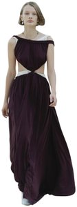 Aubergine Purple Open Back Maxi Dress by Céline