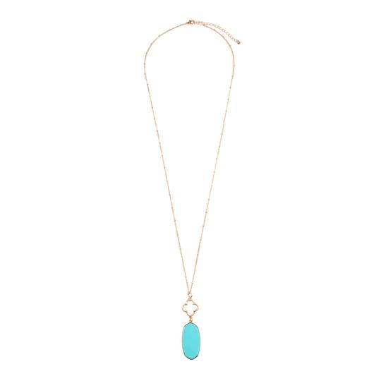 Preload https://img-static.tradesy.com/item/24406631/turquoise-faceted-oval-stone-pendant-necklace-0-0-540-540.jpg
